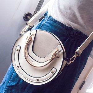 Handbags - Beige Round Bag Popular Favorite New Color